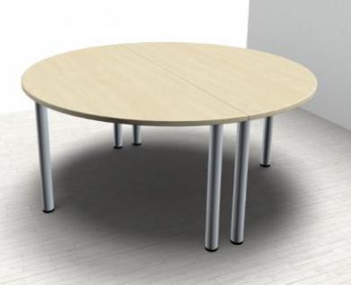 Konferenztisch Mega rund 160 cm Meetingtisch Besprechungstisch - Vorschau 2