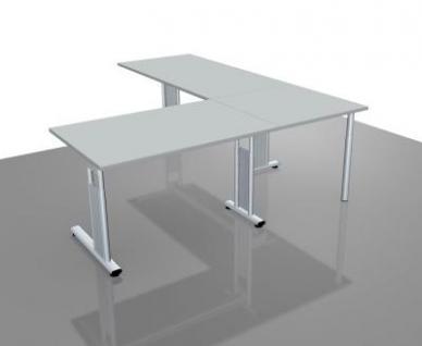 Schreibtischkombination GS18 Winkelschreibtisch Schreibtische mit Verkettung - Vorschau 3