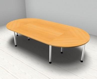 Konferenztisch Köln gerundet 320 x 160 cm Meetingtisch - Vorschau 3