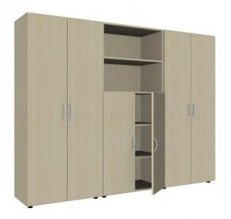 Büro Schrankwand 3021 Mega Aktenschränke 5 Ordnerhöhen vh-bueromoebel