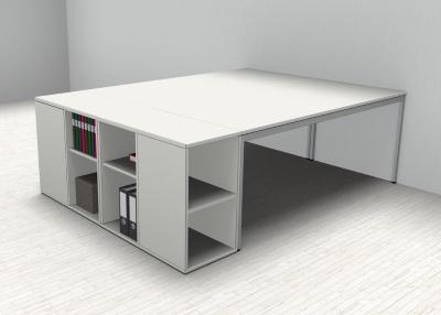 Doppelarbeitsplatz GD22 Schreibtische mit Anstellregal - Vorschau 4
