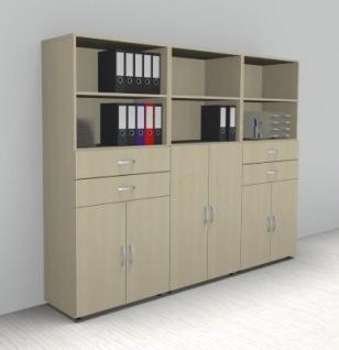 Büro Schrankwand 3529 Mega Aktenschränke 5 Ordnerhöhen vh-bueromoebel