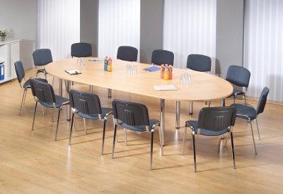 Konferenztisch Köln gerundet 320 x 160 cm Meetingtisch - Vorschau 2