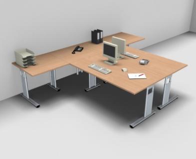 Doppelarbeitsplatz GD14 Schreibtischkombination