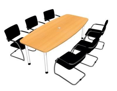 Konferenztisch 220 cm mit Stühle vh-bueromoebel - Kaufen bei vh ...