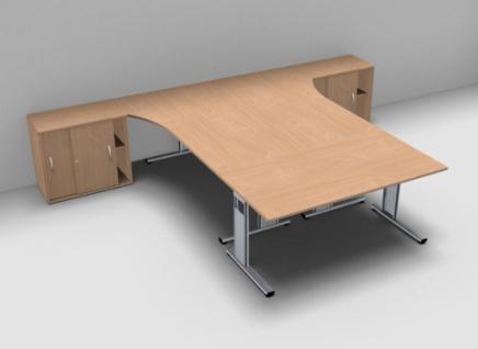 Schreibtisch-Arbeitsplatz GA1 für 3 Personen - Vorschau 3