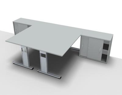 Doppelarbeitsplatz GD16 Schreibtischkombination - Vorschau 2