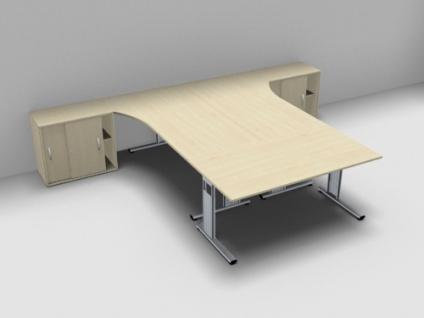 Schreibtisch-Arbeitsplatz GA1 für 3 Personen - Vorschau 2