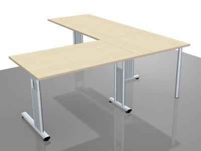 Schreibtischkombination GS18 Winkelschreibtisch Schreibtische mit Verkettung - Vorschau 2