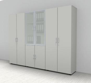 Buro Schrankwand 3698 Mega Aktenschranke 5 Ordnerhohen Kaufen Bei