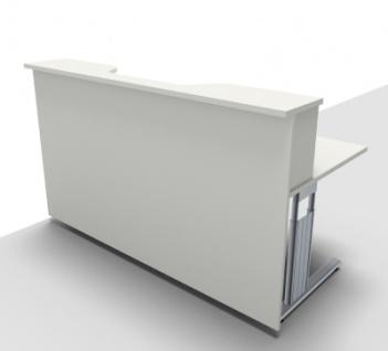Empfangstheke Solid 180 cm mit Monitorausschnit Bürotresen - Vorschau 4