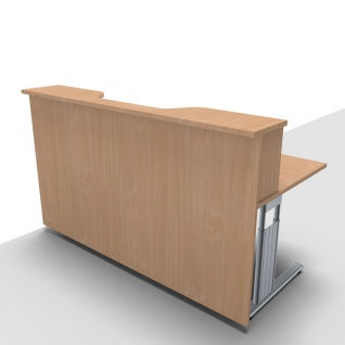 Empfangstheke Solid 180 cm mit Monitorausschnit Bürotresen