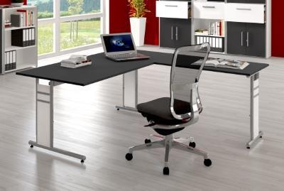 Schreibtischkombination KMF18 Schreibtisch mit Anbautisch Winkelschreibtisch
