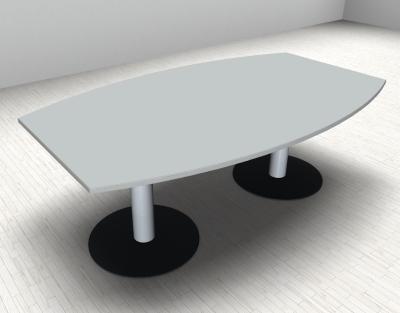 Konferenztisch Mega 200 cm Fassform mit Tellerfüßen vh-bueromoebel Meetingtisch - Vorschau 2