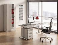 Komplettbüro B14 mit Drehstuhl Aktenschrank Schreibtisch Rollcontainer