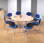 Konferenztisch Köln rund, Durchmesser 160 cm Besprechungstisch