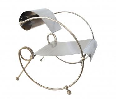 Designersessel Edelstahl / Modell Looping