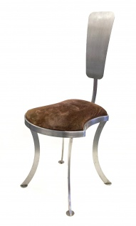 Designerstuhl Edelstahl - Modell Barock modern