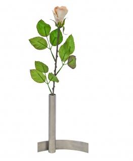 Vase Edelstahl für Kunstblumen