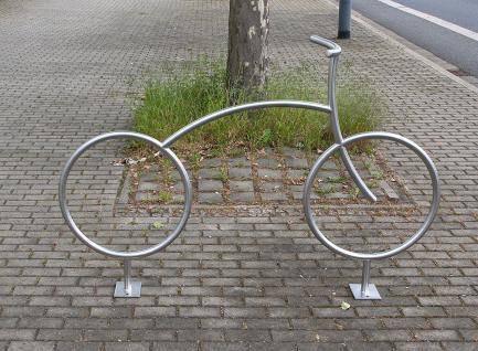 Fahrradanlehnbügel, Fahrradbügel - kreatives Design - Vorschau 3