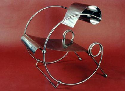 Designersessel Edelstahl / Modell Looping - Vorschau 5