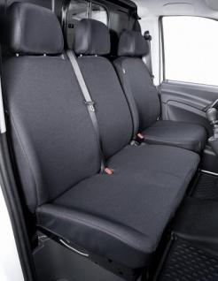 Passform Sitzbezüge Mercedes Vito W639, passgenauer Stoff Sitzbezug Einzelsitz+Doppelbank vorn, ab Bj. 06/2003-05/2014