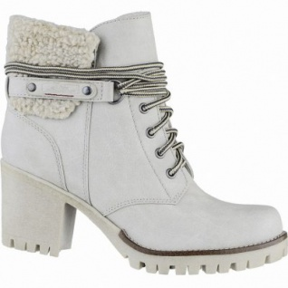 s.Oliver stylishe Damen Leder-Imitat Winter Stiefel ice, molliges Warmfutter, Soft-Foam-Fußbett, 1639331/39