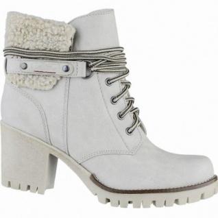 s.Oliver stylishe Damen Leder-Imitat Winter Stiefel ice, molliges Warmfutter, Soft-Foam-Fußbett, 1639331