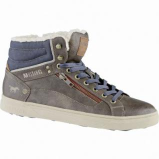 Mustang coole Herren Leder Imitat Winter Boots braun, molliges Warmfutter, warme Decksohle, 2539176