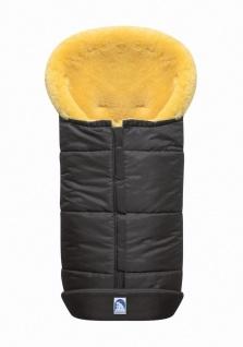 großer Baby Premium Winter Lammfell Fußsack grau waschbar, Kinderwagen, Buggy...