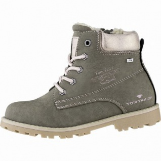 TOM TAILOR Mädchen Winter Leder Imitat Tex Boots khaki, 10 cm Schaft, Warmfutter, warmes Fußbett, 3741159/39