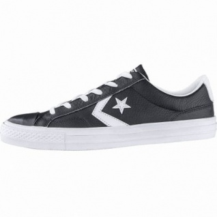 Converse Star Player - OX coole Herren Leder Sneakers black, Converse Laufsohle, 2140109/42.5