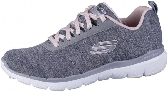 SKECHERS Flex-Appeal 3.0 Damen Jersey Sneakers grey, Air Cooled Memory Foam F...