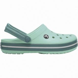 Crocs Crocband leichte Damen Clogs new mint, Croslite Foam-Fußbett, Belüftungsöffnungen, 4340104/37-38