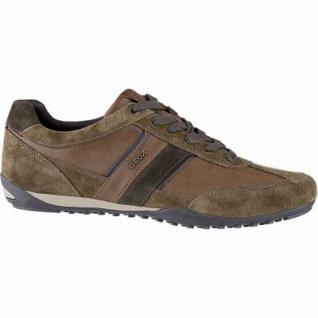 Geox coole Herren Leder Sneakers browncotto, Meshfutter, chromfrei, herausnehmbare Einlegesohle, 2141106/41