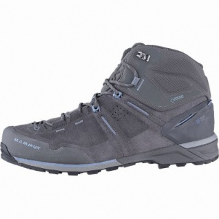 Mammut Alnasca Pro Mid GTX Men Leder Outdoor Boots graphite, Base Fit, anatomisches Fußbett, 4441169/9.5