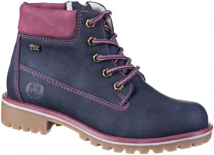 INDIGO warme Mädchen Synthetik Boots blue, Tex Ausstattung, Fleecefutter