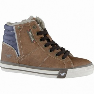 Mustang coole Jungen Synthetik Winter Sneakers kastanie, Warmfutter, warme Decksohle, 3739109/36