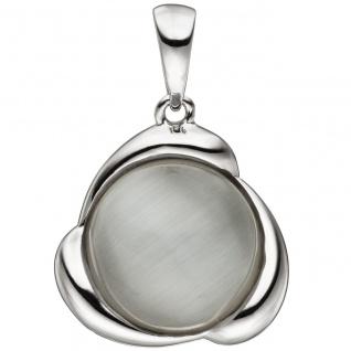 Anhänger 925 Sterling Silber 1 Katzenauge Silberanhänger