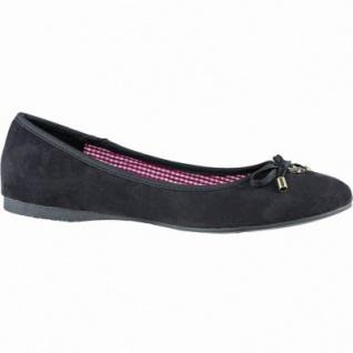 Jane Klain softe Damen Synthetik Ballerinas black, gepolsterte Super Soft-Decksohle, 1040143
