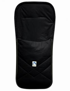 Baby Sommer Fußsack mit Baumwolle schwarz, waschbar, für Kinderwagen, Buggy, ca. 94x42 cm