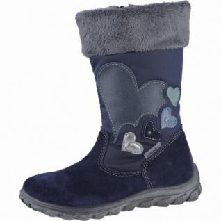 Ricosta Willa Mädchen Winter Leder Tex Stiefel nautic, Warmfutter, warmes Fußbett, 3739188/27