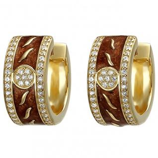 traumhafte Damen Creolen 925er Sterling Silber gold vergoldet mit 86 Zirkonia...