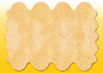 Fellteppiche beige gefärbt aus 8 Lammfellen, Größe ca. 185 x 235 cm, 30 Grad waschbar