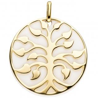 Anhänger Baum 925 Sterling Silber gold vergoldet 1 Achat-Imitation - Vorschau 2