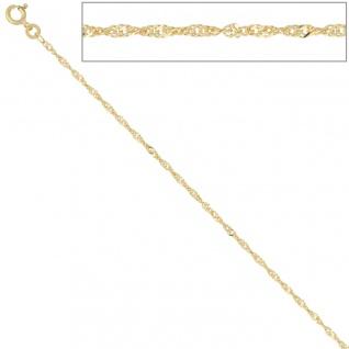 Singapurkette 333 Gelbgold 1, 8 mm 45 cm Gold Kette Halskette Goldkette Federring