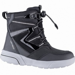 Geox Mädchen Winter Synthetik Amphibiox Boots black, 11 cm Schaft, molliges Warmfutter, herausnehmbare Einlegesohle, 3741111/36