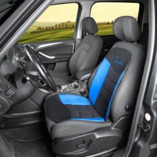 ergonomische Universal Polyester Auto Sitzauflage Gerini blau, hohes Rückenteil, weich gepolstert, waschbar, alle PKW - Vorschau 2