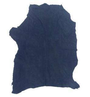 Lederhaut Ziege, Ziegenhaut, Ziegenleder, Velour, blau