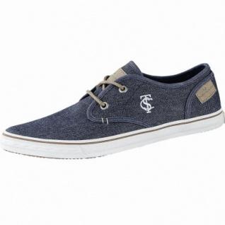 TOM TAILOR sportliche Herren Textil Sneakers navy, TOM TAILOR Decksohle, Sneaker Laufsohle, 2140136/41